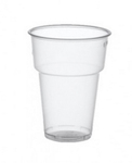 Plastic bierglas zacht + rand pet helder tapmaat 0.25 liter