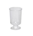 Plastic borrelglas op voet