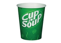 Cup a soup / chocomel bekers + roerstaaf