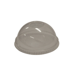 Deksel apet 95 mm dome met gat helder
