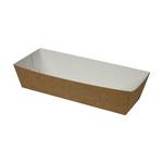 Take dis conisch bakje karton voor saucijzenbroodje 150 x 70 x 25 mm