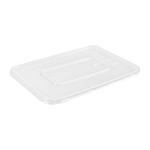 Plastic bak pp 750 gr transparant met deksel 183 x 134 x 45 mm