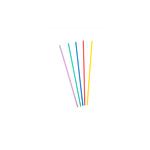 Plastic drinkrietjes dun 3 mm 22 cm