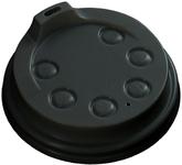 Deksel 80mm. +drinkgat voor hotcup zwart streng 50 stuks