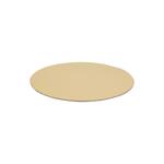 Rondel 12cm papier goud/zilver