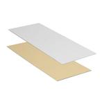 Gesneden plaatjes 205 x 85 mm zilver/goud