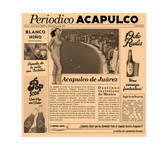 Newspaper acapulca bruin 30 x 30 cm
