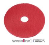 Vloerpad rood 17 inch 432 mm 5 stuks