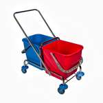 Weco dubbele rolemmer chroom 2x25 liter zonder pers