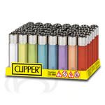 Clipper aansteker soft touch transparant assortie
