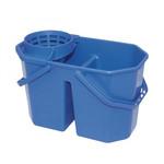 2 vaks mop emmer blauw 7/8 liter met korf