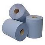 Euro midi poetsrol blauw 1 laags 6x300 meter
