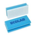 Ecolab polifix schuurspons blauw/wit