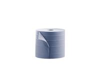 Euro industriepapier blauw 2 laags 2x380 meter