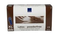 Handschoen latex blauw poedervrij x-large