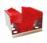 Schoenveger 4 borstels rood 35x32x22 cm