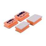 Ecolab polifix schuurspons rood/wit