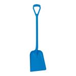 Vikan hygiene schop d-grip standaard blad blauw