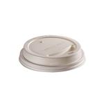 CPLA deksel wit 90 mm voor 360ml/12oz beker