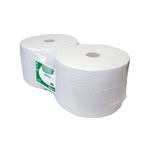 Industriepapier wit 1-lg 2 rol a 1000mtr 23cm