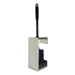 Toiletborstelhouder open RVS wandmontage