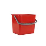 Emmer 6 liter rood voor betra werkwagen