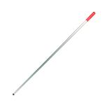 Steel aluminium gekleurd 1400 mm greep rood