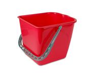 Wecoline mopemmer 25 liter rood voor mopwagen