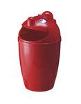 Afvalbak met gezicht rood 75 liter