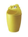 Afvalbak met gezicht geel 75 liter