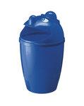 Afvalbak met gezicht blauw 75 liter