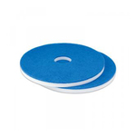Vloerpad melamine wit/blauw 16 inch 5 stuks