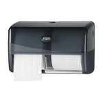 Euro pearl black duo toiletroldispenser compact