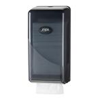 Euro pearl black toiletpapierdispenser bulkpack