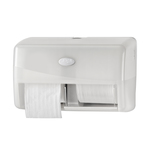 Euro pearl white duo toiletroldispenser coreless