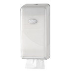 Euro pearl white toiletpapier dispenser bulkpack