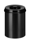 Papierbak vlamdovend zwart 15 liter