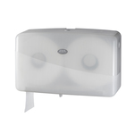Euro pearl white jumbo toiletroldispenser mini duo maximaal 20 cm doorsnede