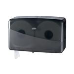Euro pearl black jumbo toiletroldispenser mini duo maximaal 20 cm doorsnede