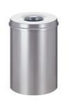 Vlamdovende papierbak zilver 30 liter