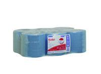 Kimberly clark wypall L10 poetsdoeken 1lgs airflex materiaal blauw 38x18.5 cm roll controll 6x630 doeken