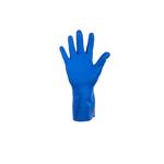 Rubber huishoudhandschoen blauw S 1 paar