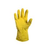 Rubber huishoudhandschoen geel L 1 paar