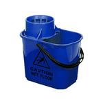 Hygiemix minimopemmer blauw 15 liter met uitwringkorf