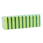 Schuurspons geel groen zware kwaliteit a20