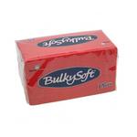 Bulkysoft 2lgs ptp servet 38x38cm rood 20x40st