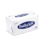 Bulkysoft 2lgs servet 33x33cm wit 40x50st