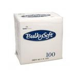 Bulkysoft 2lgs servet 24x24cm wit 30x100st