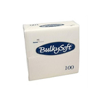 Bulkysoft 2lgs servet 33x33cm wit 24x50st