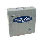 Bulkysoft 2 laags servetten 40x40cm 1/4 pure cellulose grijs 20x100st
